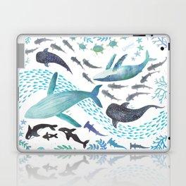 Sharks, Humpback Whales, Orcas & Turtles Ocean Play Print Laptop & iPad Skin