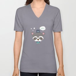 Raton laveur - Collection Dandynimo's - Unisex V-Neck