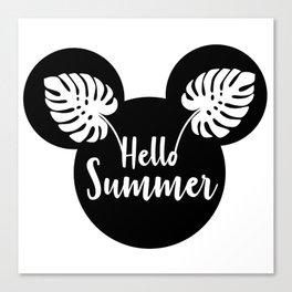 Mouse head Hello Summer Canvas Print