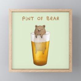 Pint of Bear Framed Mini Art Print