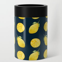 Watercolor Lemon Pattern Can Cooler