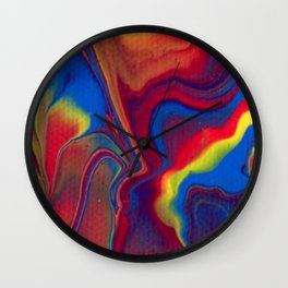 Paint Pouring 15 Wall Clock
