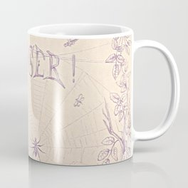Antique Victorian Danger Spiderweb Spider Kitten Illustration  Coffee Mug