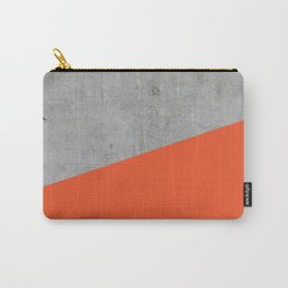 Concrete and flame color Carry-All Pouch