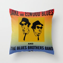 Mission From God Blues Brothers Throw Pillow