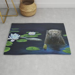 The River Otter by Teresa Thompson Rug