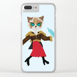 Water cat Clear iPhone Case