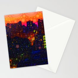 New York By Night Stationery Cards