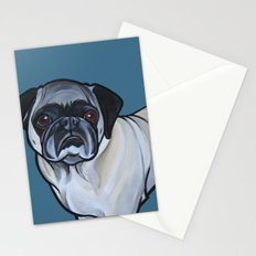 Murphy the pug Stationery Cards
