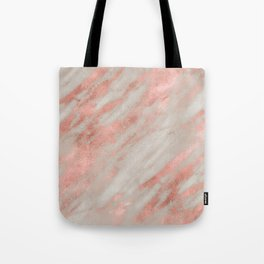 rosegold marble Tote Bag