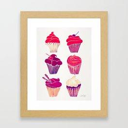 Cupcakes – Fuchsia Palette Framed Art Print
