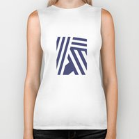 nautical Biker Tanks featuring Nautical Stripes by Charlene McCoy