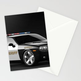 Challenger Sheriff Highway Patrol Police Car color photograph / photography / poster Stationery Cards