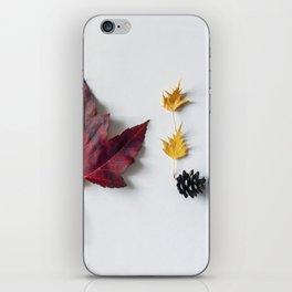Fall in Words iPhone Skin