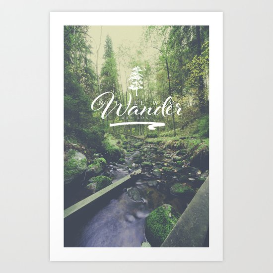 Mountain of solitude - text version Art Print