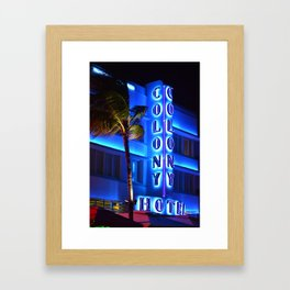 The Colony Hotel (Night) Framed Art Print