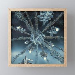 Space Dock Rendezvous Framed Mini Art Print