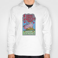 valentines Hoodies featuring valentines day choo choooo by aceofspades81