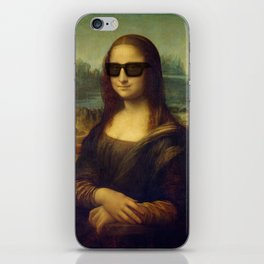 Hipster Mona Lisa in her Hipster Shades iPhone Skin