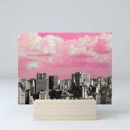pink sky in Sao Paulo Mini Art Print
