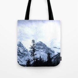 Mystic Three Sisters Mountains - Canadian Rockies Tote Bag