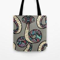 anaconda Tote Bags featuring Anaconda by schillustration