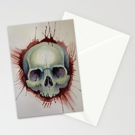 Murder Skull  Stationery Cards