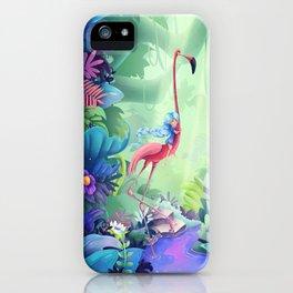 Girl & Flamingo iPhone Case