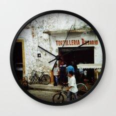 Tortilleria Rosario Wall Clock