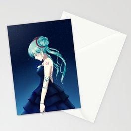 Miku in Elegance Stationery Cards