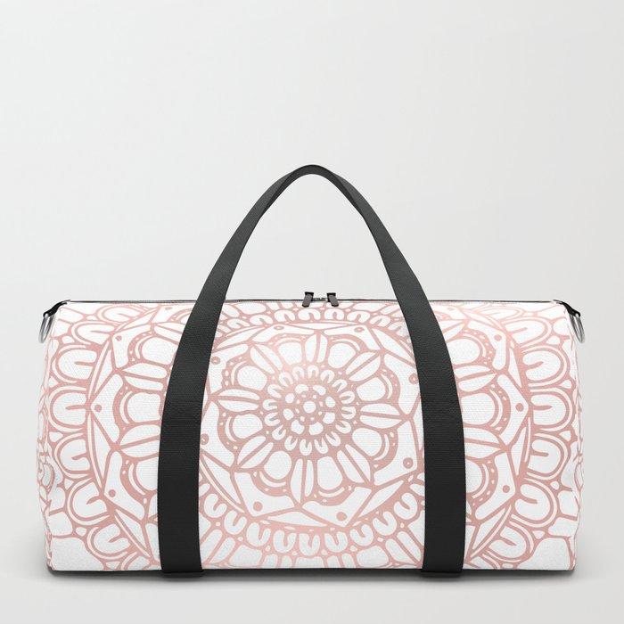 Rose Gold Boho Mandala Duffle Bag