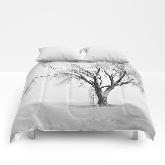 Tree in the Snow Comforters