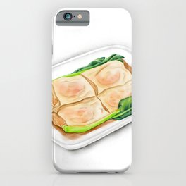 Watercolor Illustration of Chinese Cuisine - Vermicelli Roll with Shrimp | 鲜虾肠粉 iPhone Case
