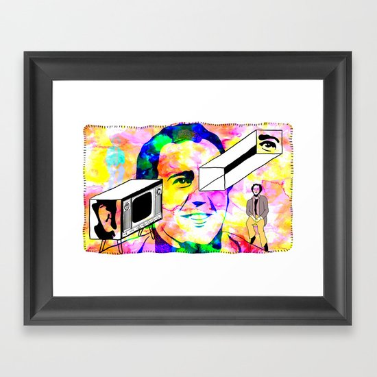 """Andy and His Grandmother"" by Steven Fiche Framed Art Print"