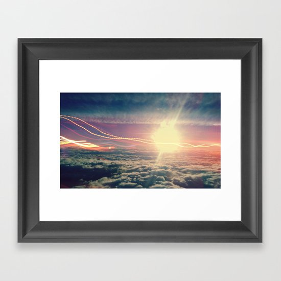 Be Light Framed Art Print