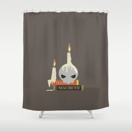 To Read Or Not To Read Shower Curtain