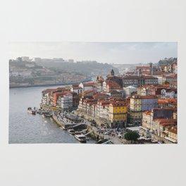 Porto's Cityscape. The Ribeira area alongside the Douro River. Rug