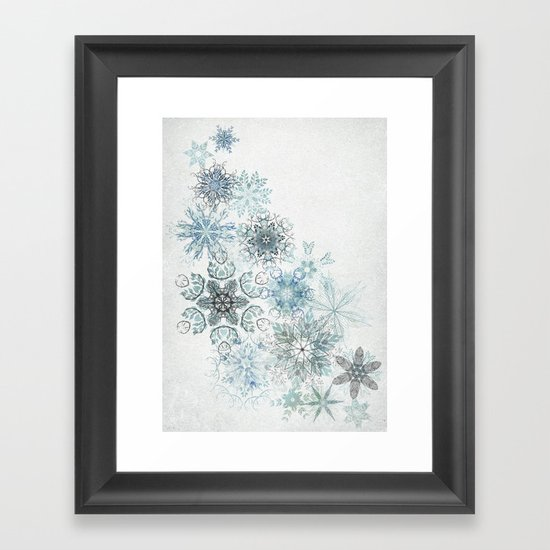 The Forest Drift Framed Art Print