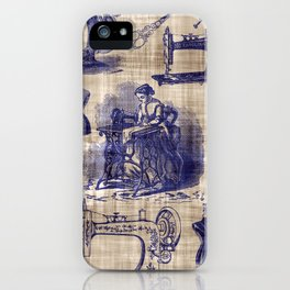 Vintage Sewing Toile iPhone Case