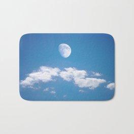 Daytime - Gibbous Moon  Bath Mat