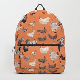 Chicken Happy Tangerine Backpack