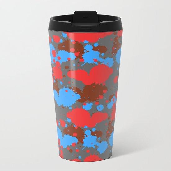 color dripping Metal Travel Mug