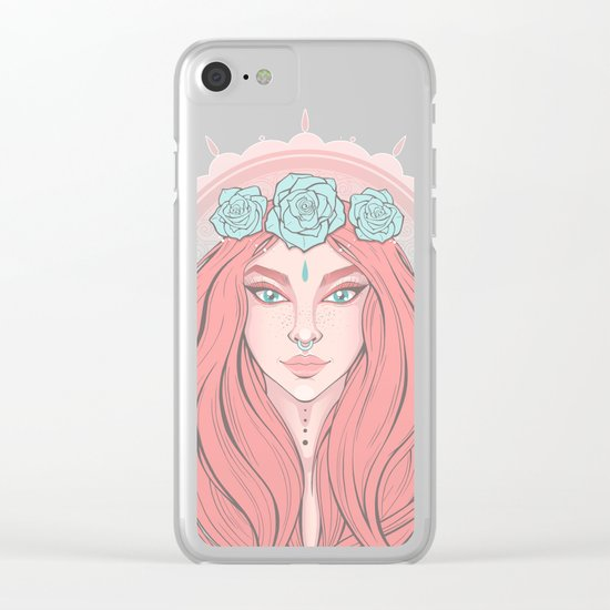 Rose Ivy Clear iPhone Case