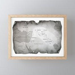 MAP OF MESOPOTAMIA Framed Mini Art Print