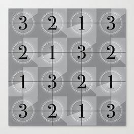 321 Cinema // Old Film Countdown Canvas Print