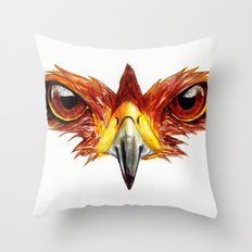 Hawk Eyes  Throw Pillow