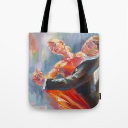SAME FOOT LUNGE IN MOTION Tote Bag