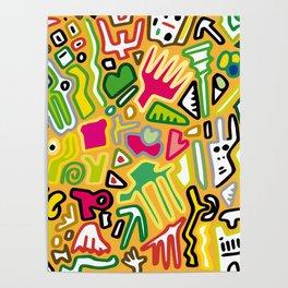 color doodle Poster