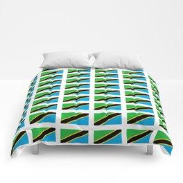 Flag of tanzania -Tanzania,Tanzanian,swahili,Dar es salam,Mwanza,Dodoma,Ngorongoro Comforters