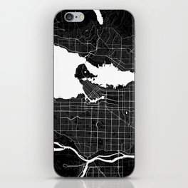 Vancouver - Minimalist City Map iPhone Skin